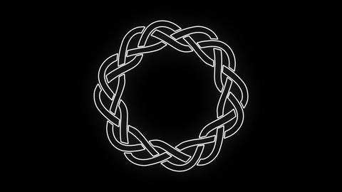 4k Black And White Celtic Knot Clip Animation