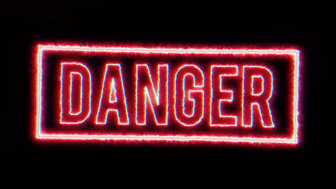 4k Warning Danger Background Animation