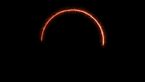 Solar Eclipse With Fire Circle Stroke Animation Animation