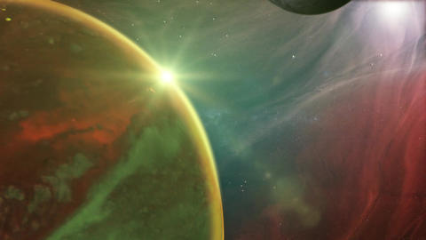Outer Space Planet And Nebula Background Animation