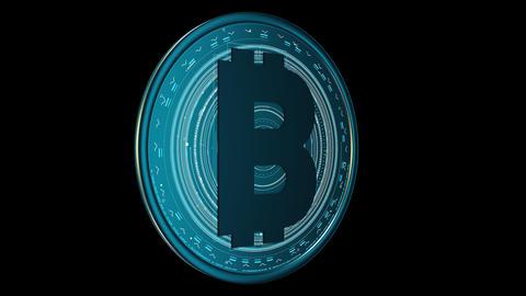 Bitcoin Spin Alpha CG動画素材
