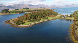 Aerial view of the beautiful aeria between Portnacroish and Appin - Scotland Footage