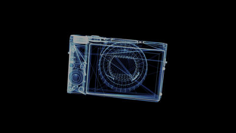 The hologram of a rotating pocket camera Footage