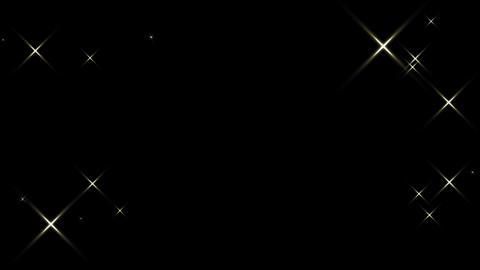 Twinkle star frame - loop (with alpha) Videos animados