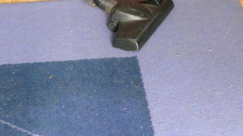 Vacuuming Blue Carpet GIF