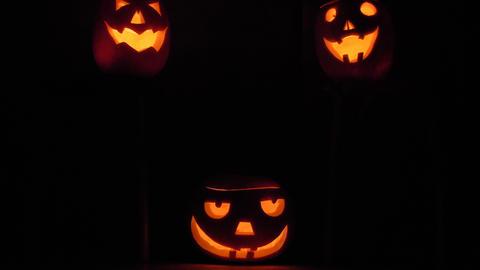 Natural Halloween Pumpknis background ビデオ
