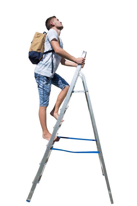man ladder Photo
