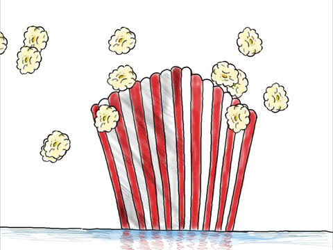 Popcorn Popping Box Drawing Color 2D Animation Animation