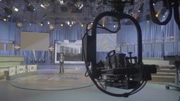 TV Studio before broadcast Footage