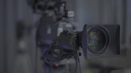 Two cameras in the TV Studio (refocusing) Footage