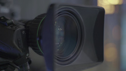Two cameras in the TV Studio Footage