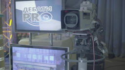The camera in the TV Studio Footage