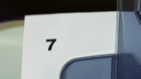 Numbers from one to ten printed on a laser printer Footage