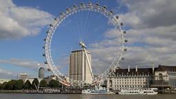 London Eye River Thames London UK Footage