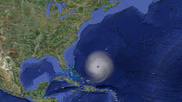 Hurricane weather tracking Footage