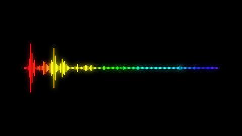 digital audio spectrum sound wave effect Animation