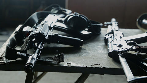 Weapons and gun. Terrorism concept Live Action