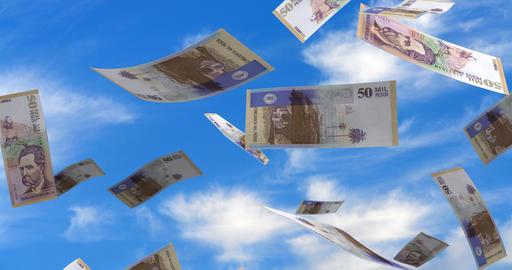 Falling Colombian Pesos CG動画素材