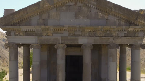 Panoramic view of Ionic-colonnaded Garni temple in Armenia, religion and tourism Live Action