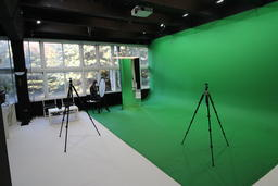 Photo Studio Interrior Green Screen Wall Chroma Key Photo