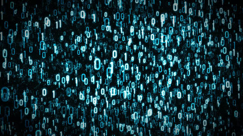 4k Abstract Technology Binary Digits Background Loop Animation
