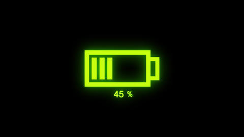 Animated Digital Battery Loading Animation