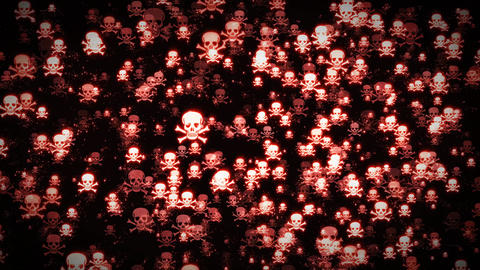 Pirate Skull And Cross Bones Icon On Loopable Background Animation