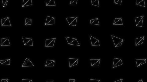 Abstract Triangle Shapes Spinning Background Loop Animation