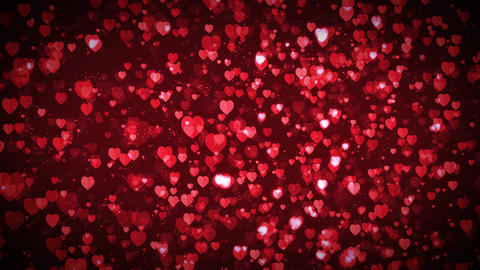 Valentine's day Floating Hearts Background Loop Animation