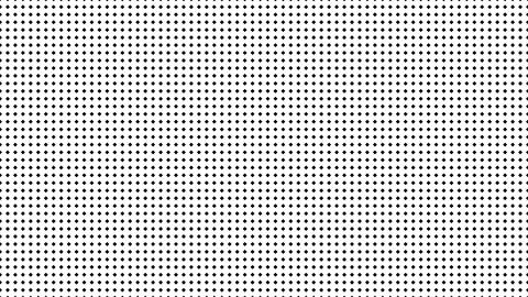Dynamic Black And White Composition With Shapes Scaling Animation