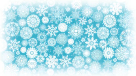 4k Seamless Loop Of Christmas Snowflakes Background Animation