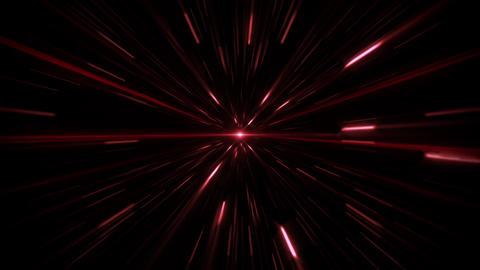 Red Sci-Fi Space Time Tunnel VJ Loop Motion Background Animation