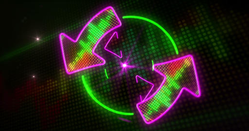 Disco light and arrows endless animation Animation