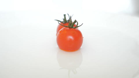 Fidelity Closeup Ripe Fresh Red Cherry Tomatoes Stock Video Footage