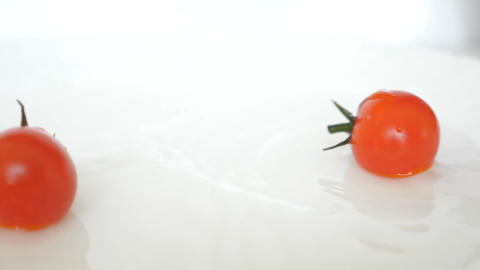 Fidelity Closeup Ripe Fresh Red Cherry Tomatoes Animation