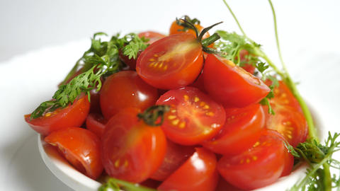 Multi Tomatoes Extreme Close Up Stock Video Footage