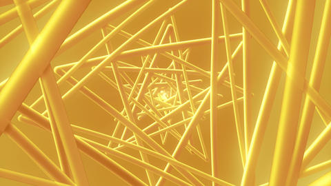 Gold Wire - 4k Glamorous Abstract Geometrics Video Background Loop Animation