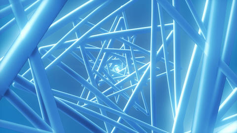 Blue Wire - 4k Stylish Abstract Shapes Video Background Loop Animation