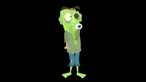 Cartoon Zombie Character Element 8 - scared Animation
