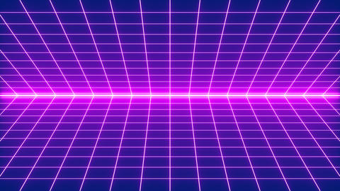 80s Synthwave Grid Style Stock Video Footage