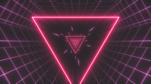 Retro 80s Triangle Tunnel Animation