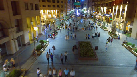 YEREVAN, ARMENIA - CIRCA JUNE 2017: People in the city. Lot of people walking Live Action