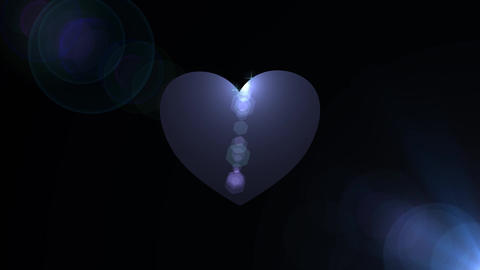 Blue heart with stars loop FREE HD video Stock Video Footage