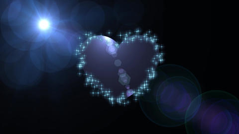 Blue heart with stars loop FREE HD video GIF