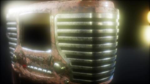 Old fashioned vintage retro radio Footage