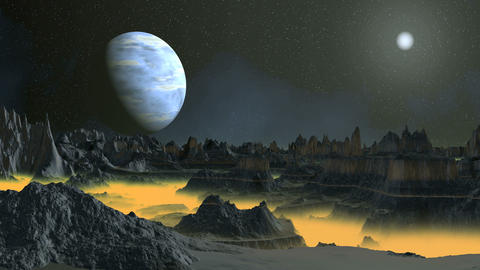 Toxic Fog on an Alien Planet GIF