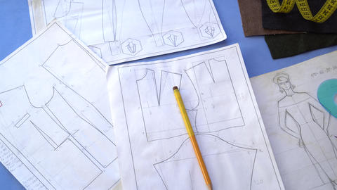 Flat Pattern Drafting. Pattern engineering Footage