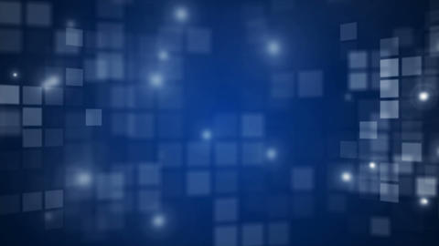 Abstract blue flashing rectangle grid flowing perspective... Stock Video Footage