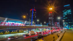 Warsaw Downtown City Center Night Timelapse 영상물