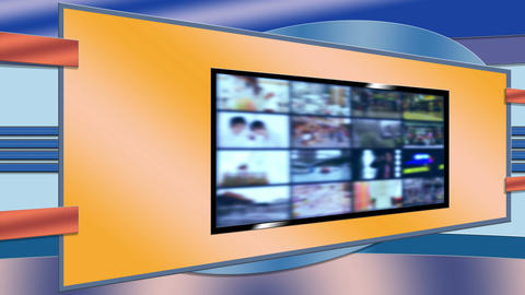 Background plate slanted tv screens Live Action